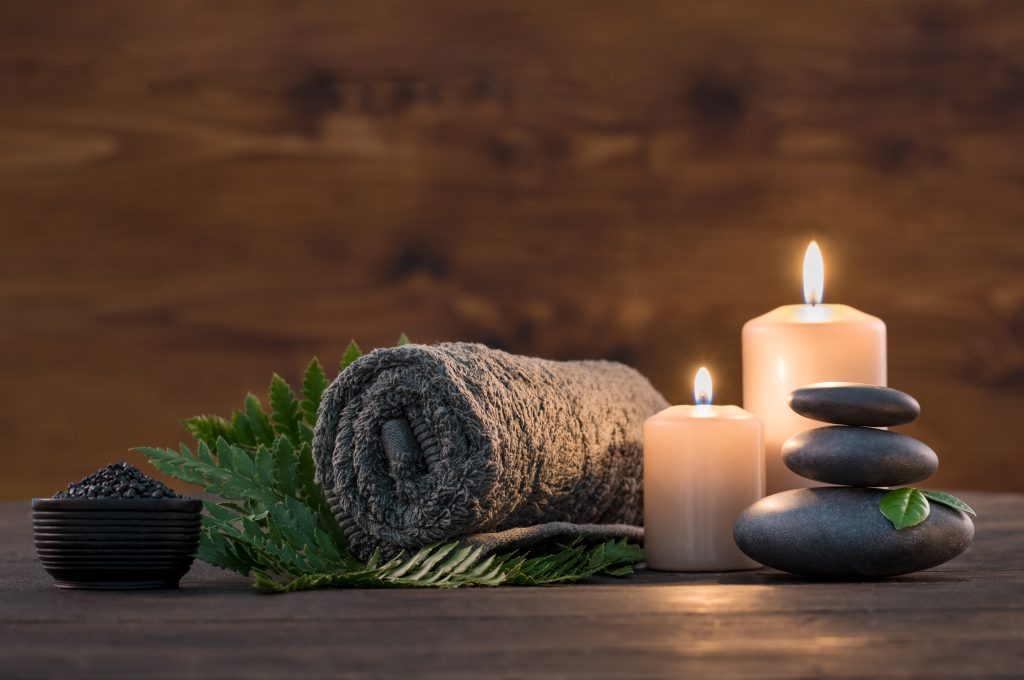 Relaxing spa ambience