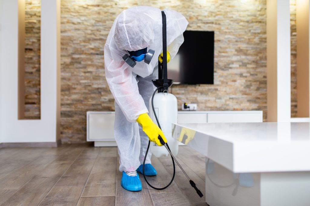 Performing residential pest control treatment